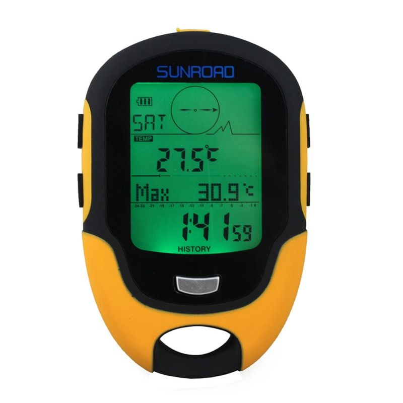 Waterproof FR500 Multifunction LCD Digital Altimeter <font><b>Barometer</b></font> Compass Portable Outdoor Camping Hiking Climbing Altimeter Tools