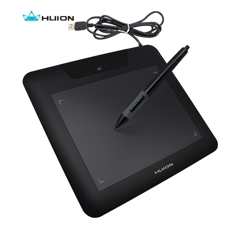New HUION 680S 8 x 6 Digital Graphic Pen Tablets Professional Animation Painting <font><b>Boards</b></font> Art Tablet Pad Black