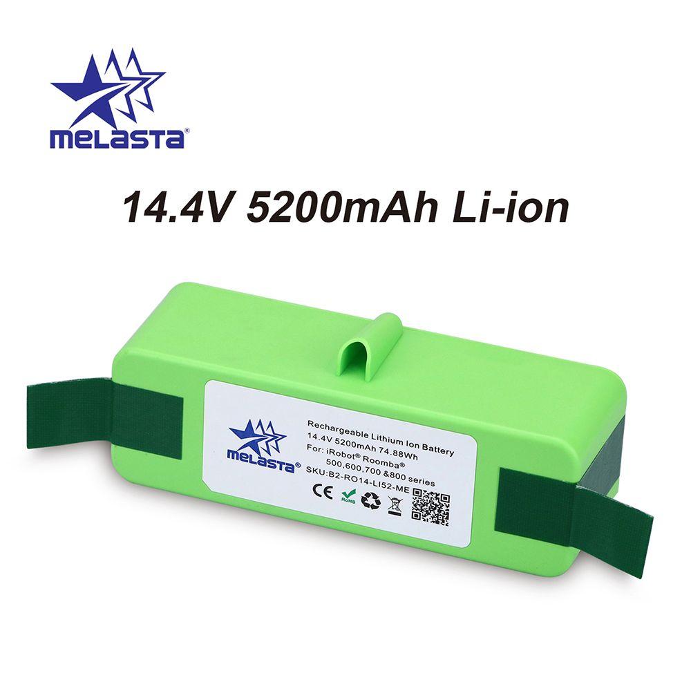 5.2Ah 14.4 V Li-ion Batterie avec Cellules Marque pour iRobot Roomba 500 600 700 800 Série 510 530 550 560 620 650 770 780 870 880 R3