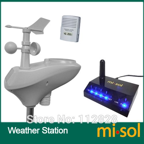 MISOL / IP OBSERVER Solar Powered Wireless Internet Remote Monitoring Weather Station