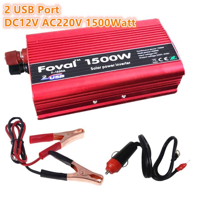 1500W Power Inverter 12v 220v 1500W DC to AC 1500 Watt Converter car Charger <font><b>Vehicle</b></font> Power Supply Switch