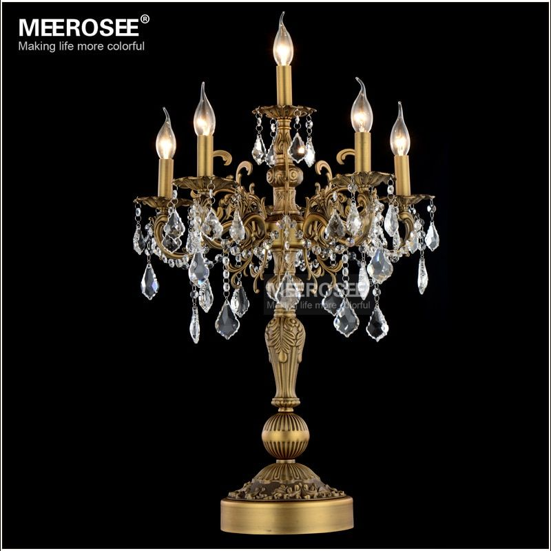 Luxurious Crystal Table Light Modern Desk Light Wedding Candelabra Crystal Table Lustres Living room Bedroom Lighting