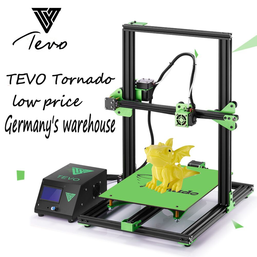Newsest TEVO Tornado Fully Assembled 3D Printer Impresora 3D Aluminium Extrusion Large Printing area with Titan Extruder