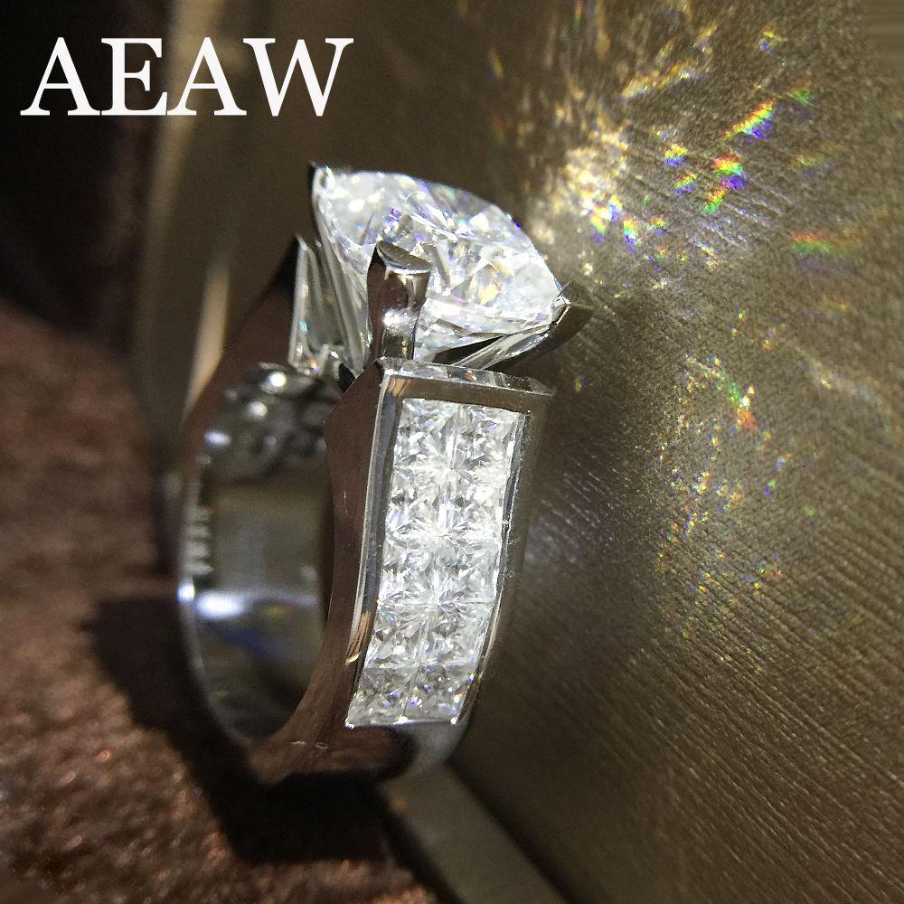 1.5 Carat ct 7mm Cushion Cut Engagement&Wedding Moissanite Diamond Ring Double Halo Ring Genuine 14K 585 White Gold