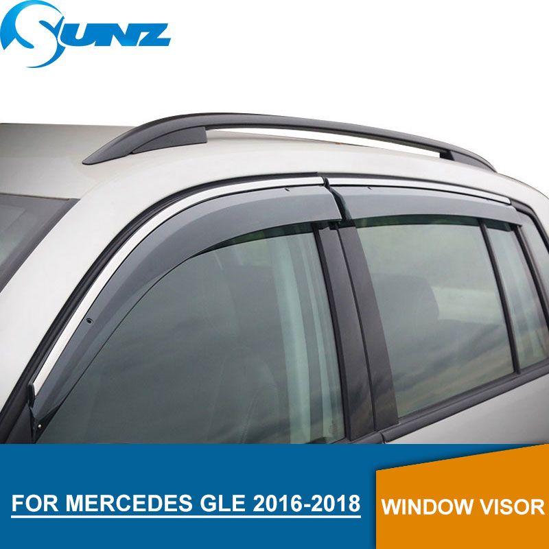 Window Visor for MERCEDES GLE 2016-2018 Weather Shields rain guards for MERCEDES GLE 2016-2018 SUNZ