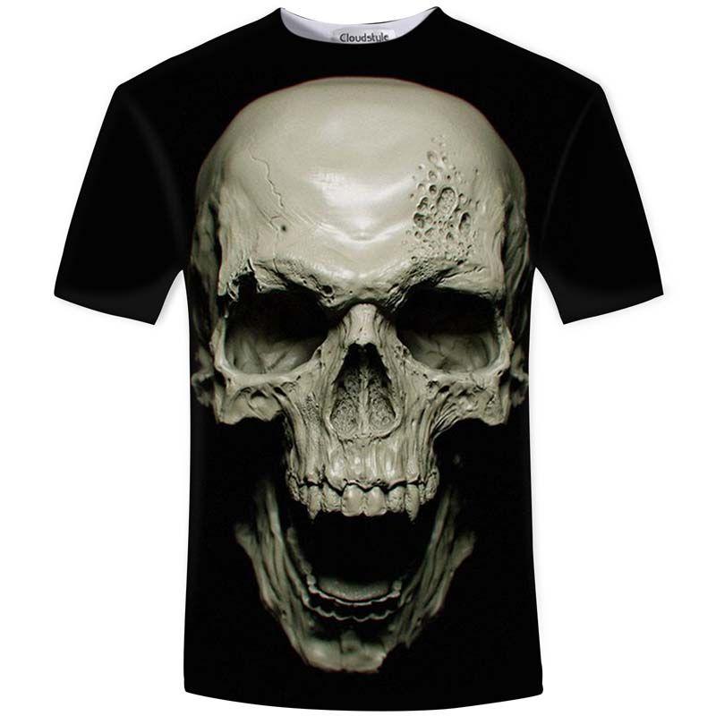 Cloudstyle New Hot Hommes D'été 3D t chemise Rue De Mode modèles amour de mode crâne âme char Rock T-shirt Hommes Vêtements