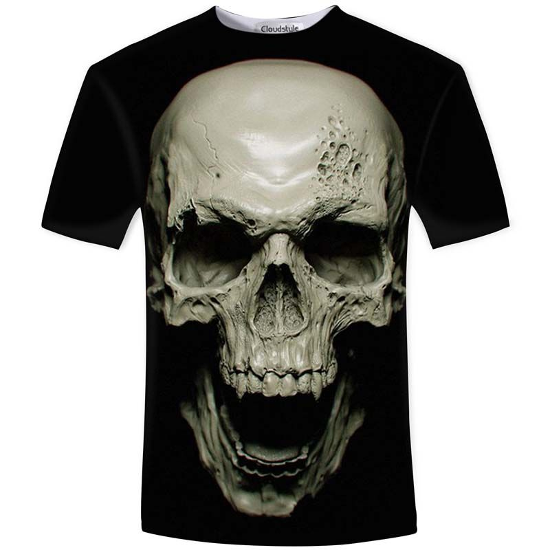Cloudstyle New Hot Men Summer 3D t shirt Street Fashion models love fashion skull soul chariot Rock T-shirt Men Clothes