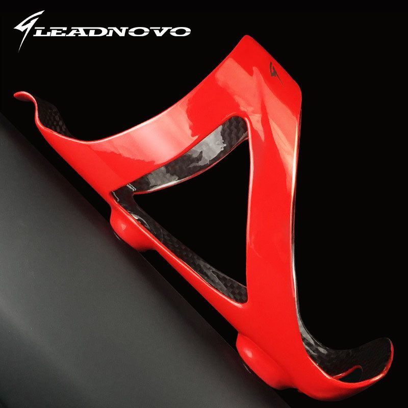 Bicycle Bottle Holder Carbon Fiber Bicycle Water Bottle Cage matte red Cycling Parts road bicycle full carbon fiber bottle cage