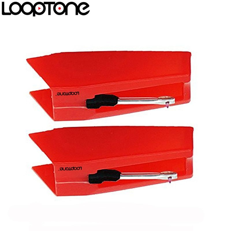LoopTone 2PCS Sapphire Tipped Ceramic Needle Stylus for Vinyl LP Record Player Turntable Players, Gramophone Accessory