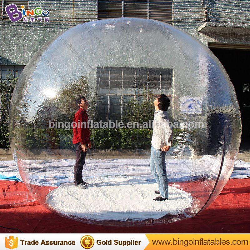 Personalisierte 3 meter aufblasbare schneekugel/10 füße aufblasbare benutzerdefinierte snow globe/aufblasbare transparent ball weihnachten spielzeug