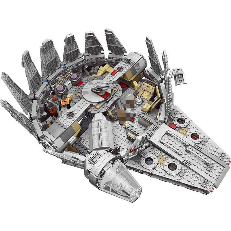 1381 Pcs Force Awakens Star Set Wars Series Compatible 79211 Millennium Falcon Model Building Blocks Toys For Children kids gift