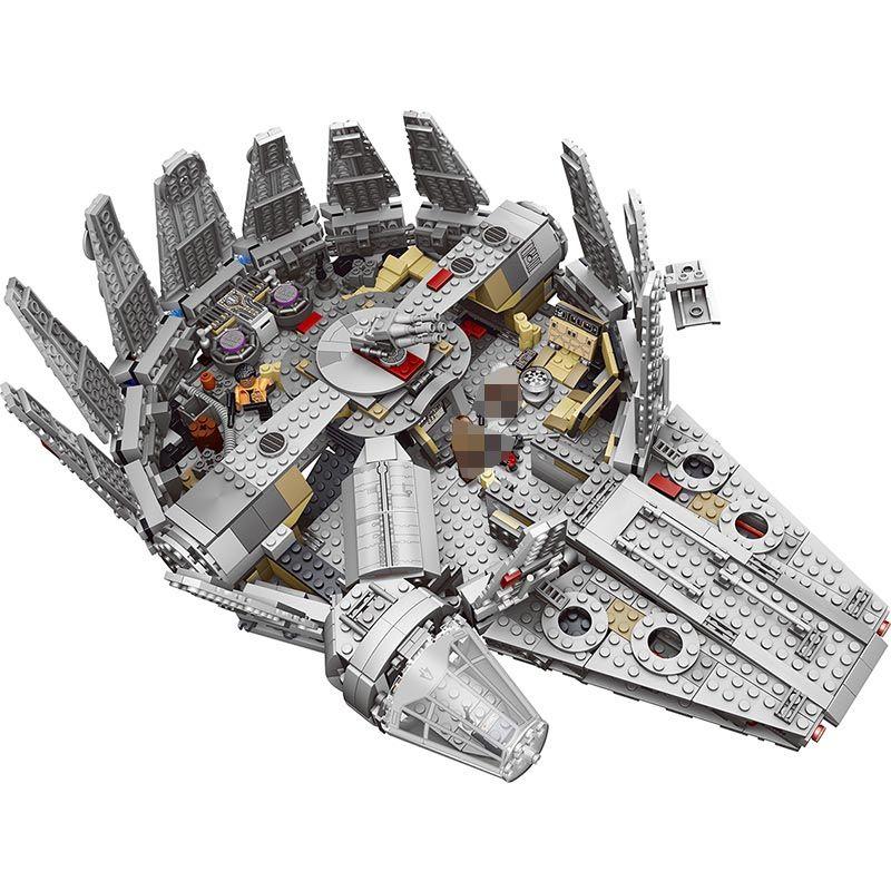 1381 Pcs Kraft Weckt Stern Set Wars Serie Kompatibel 79211 Millennium Falcon Modell Bausteine Spielzeug Für Kinder kinder geschenk