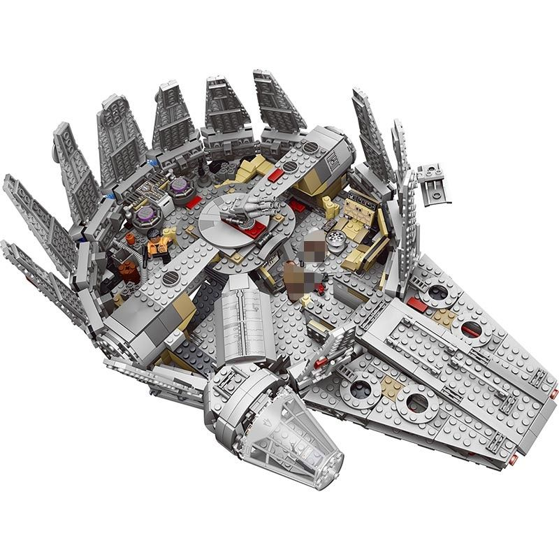 Force Awakens Star Set Wars Series Compatible LegoINGLYS 79211 Millennium Falcon Figures Model Building Blocks Toys For Children