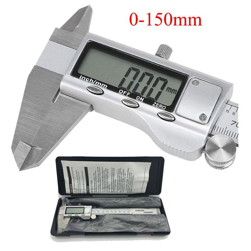 Metal caliper 6-Inch <font><b>150mm</b></font> Stainless Steel Electronic Digital Vernier Caliper Micrometer Measuring Tool Caliper