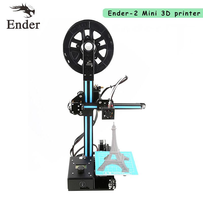 Le plus récent! Facile à assembler Ender-2 imprimante 3D kit de bricolage imprimante 3d Reprap prusa i3 filament + outils + HotBed + carte SD 8G + outils