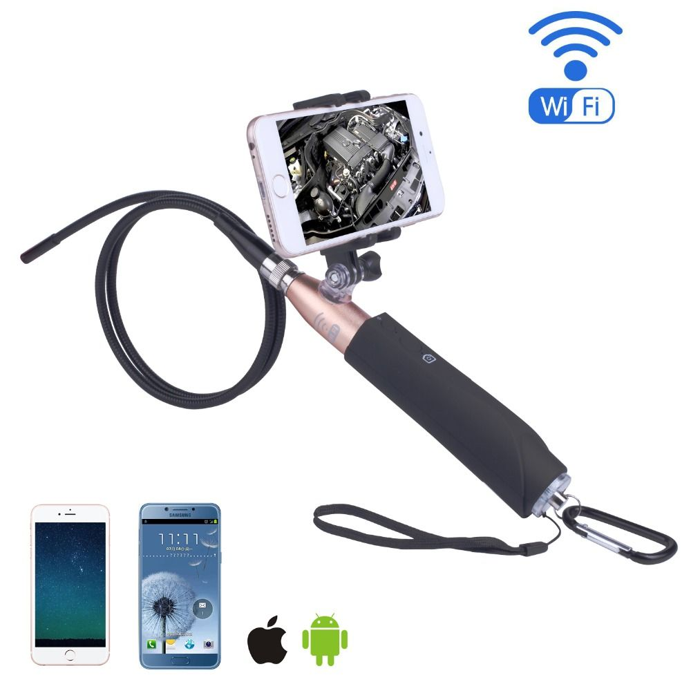 Handheld Wifi Endoscope Camera 5.5mm 8mm Wireless Wifi Borescope With 1m Hard Cable Snake Industrial Endoscope For IOS Android