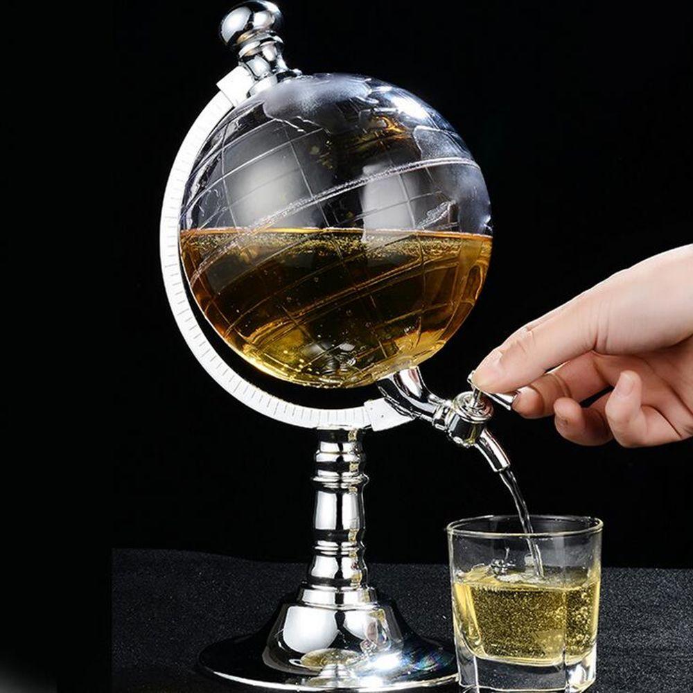 Board Game Novelty Globe Shaped Beverage Liquor Dispenser Drink Wine Beer Pump Single Canister Pump Bar Wine Dispenser