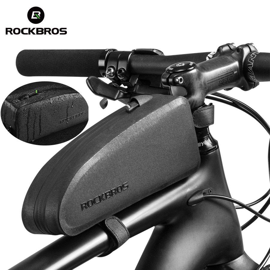 ROCKBROS Radfahren Fahrrad Top Vorne Rohr Tasche Wasserdicht Rahmen Tasche Große Kapazität MTB Fahrrad Pannier Fall Bike Zubehör