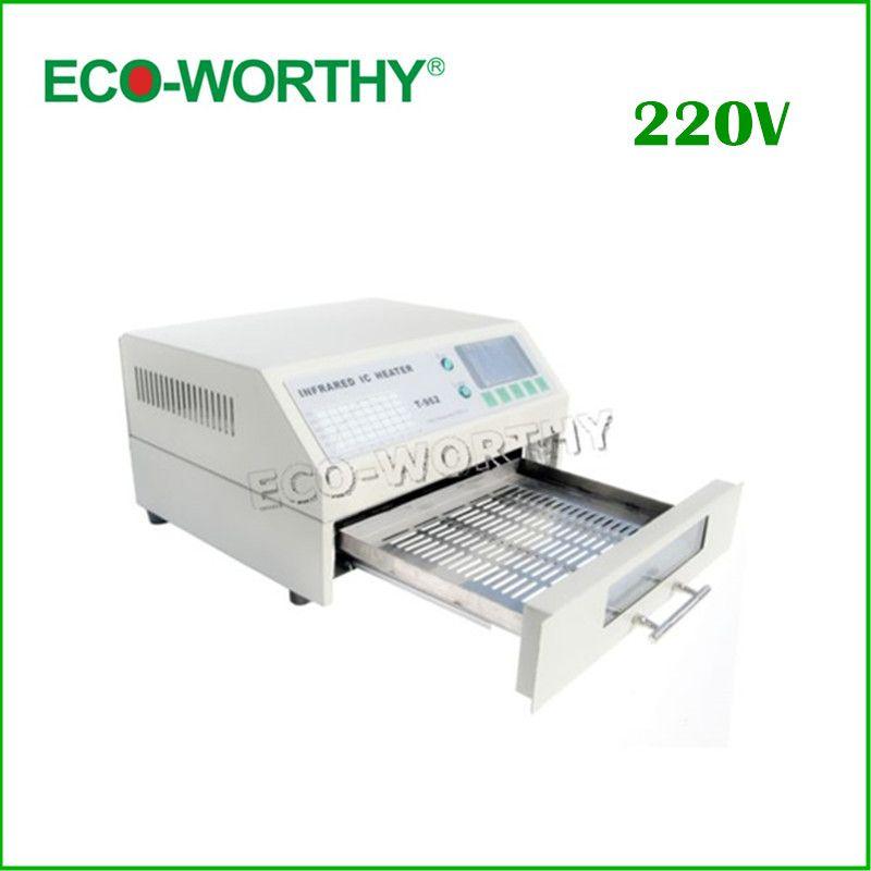 EU Stock T962 Digital Infrared IC Heater AC 220V Reflow Oven SMD Solder BGA Area 180*235mm 800W Rework Sation Reflow Wave Oven