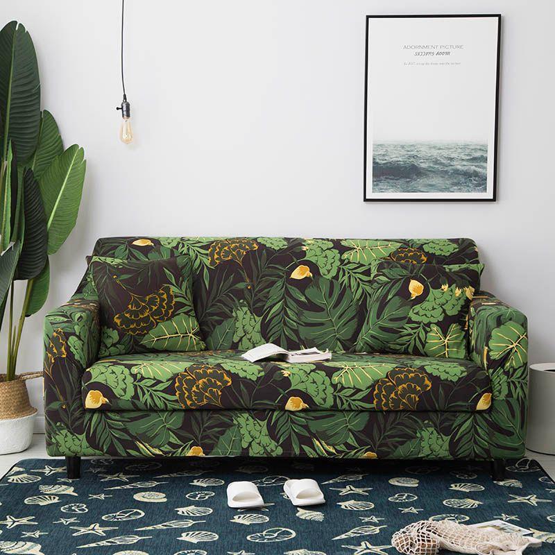 1PC élastique canapé serviette meubles protecteur canapé Stretch étroitement envelopper tout compris antidérapant coin canapé couverture 1/2/3/4-Seat