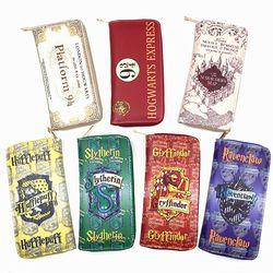 New harry Potter Dompet Purse Hogwarts Gryffindor Slytherin Hufflepuff Ravenclaw Purses Mode Dompet Pemegang Kartu mltifunction