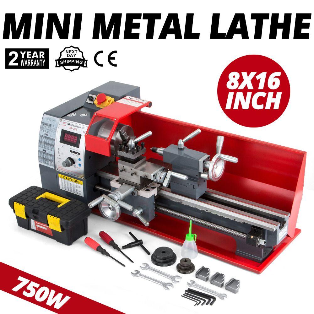 8x16 Zoll Metall Verarbeitung Variabler Geschwindigkeit Drehmaschine Metall Drehmaschine Bench Top Mini