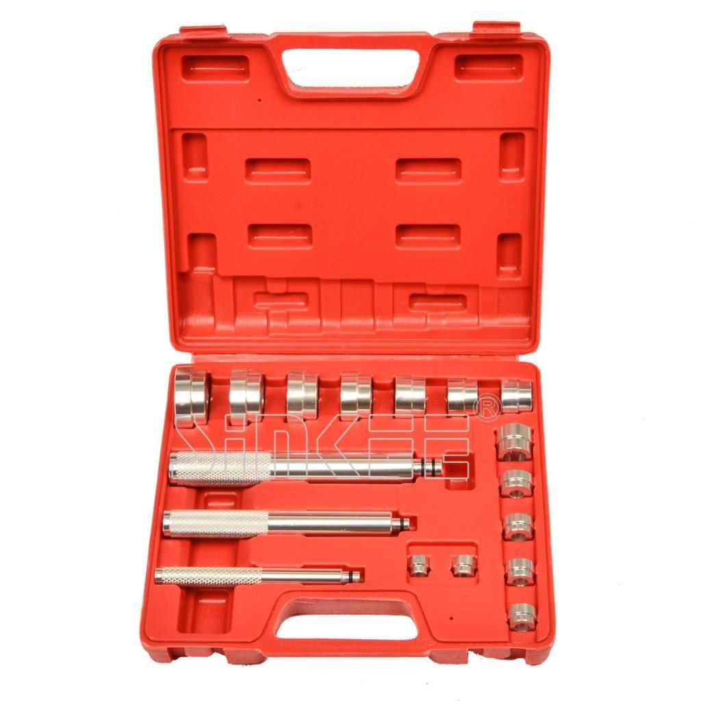 Bearing Race Seal Bush Driver Set/Tool/Kit Aluminium Mm 17pc