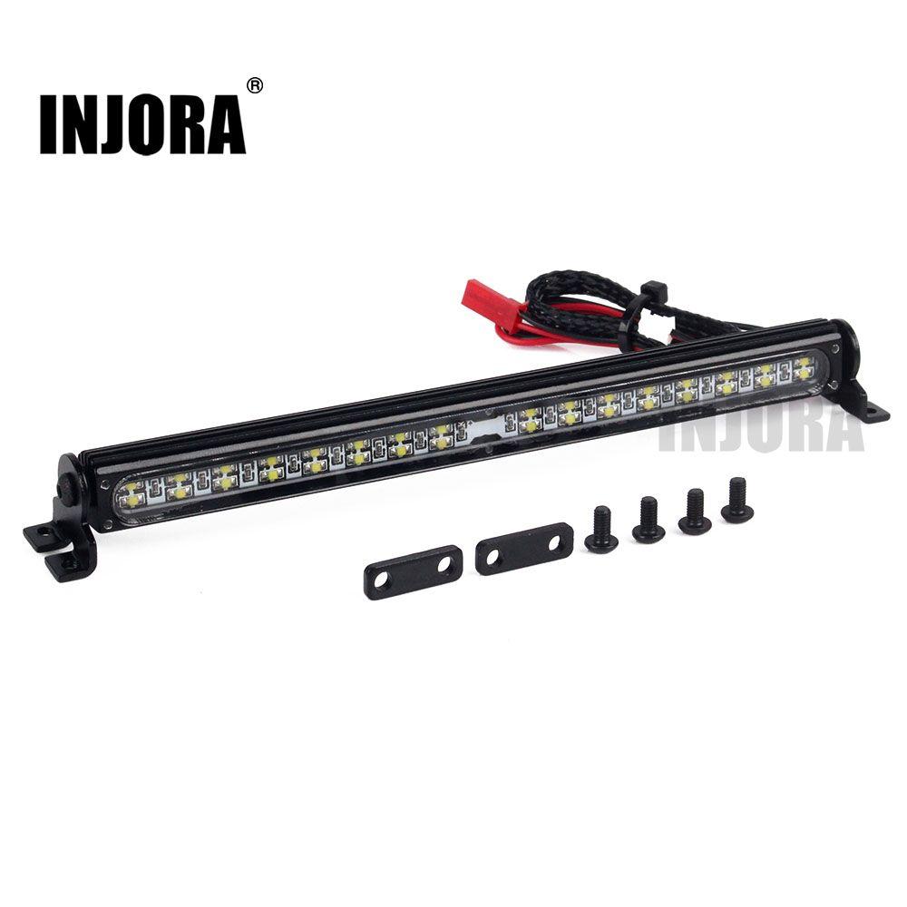 Trx4 Metal LED Roof Lamp Light Bar for 1/10 RC Crawler Traxxas Trx-4 Trx 4 SCX10 90027 & SCX10 II 90046 90047