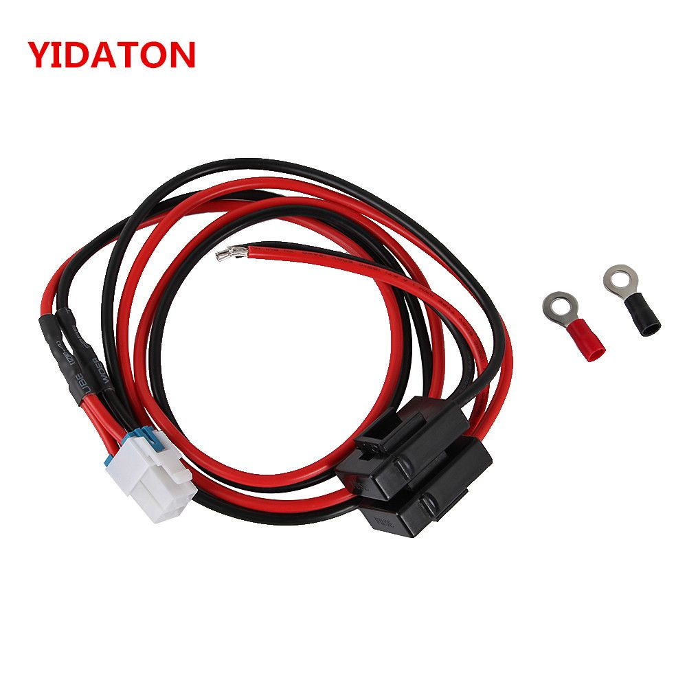For ICOM IC-7000 YIDATON 1m 4 pins Short Wave Radio Power Supply Cord Cable IC-7600/FT-450/TS-480 FT-991 FT-950 NO COPPE