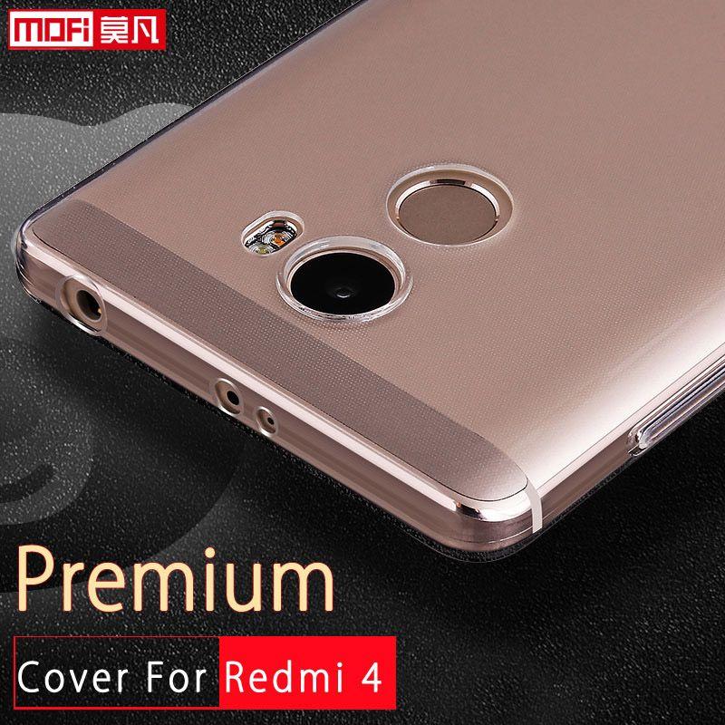Чехол для Xiaomi Redmi 4 силиконовый чехол Xiaomi Redmi 4 чехол ТПУ Мягкая задняя xiomi Coque Ясно Тонкий принципиально охватывает 5.0 дюймов