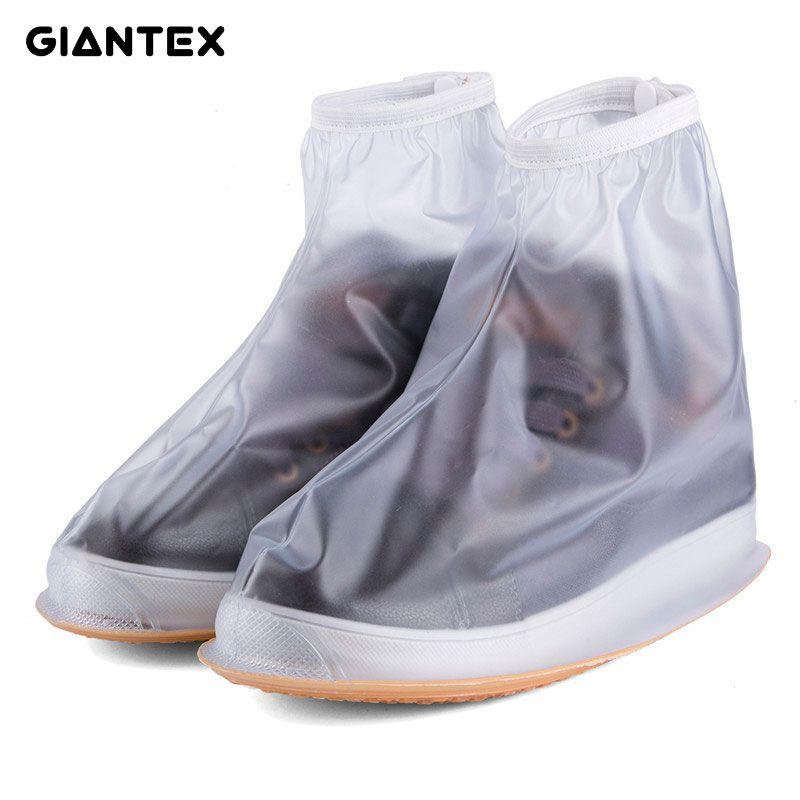 GIANTEX Hombres Lluvia Cubierta Impermeable Botines Planos de Las Mujeres Botas de Tacones Zapatos de Plataforma Gruesa antideslizante Cubre Lluvia botas S0154