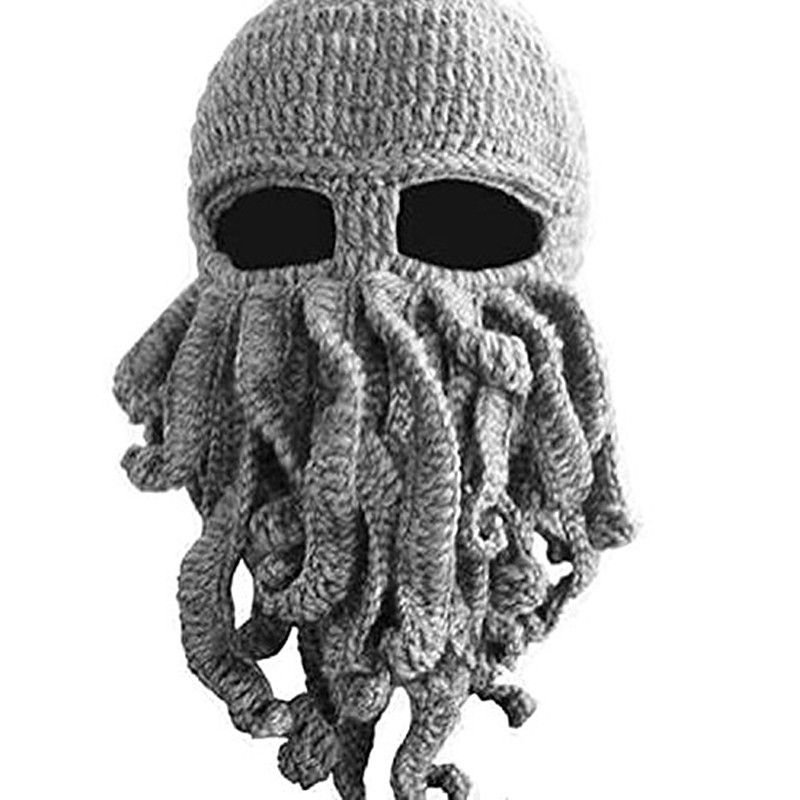 BomHCS Tentacle Octopus Cthulhu Knit Beanie Hat Cap Wind Mask