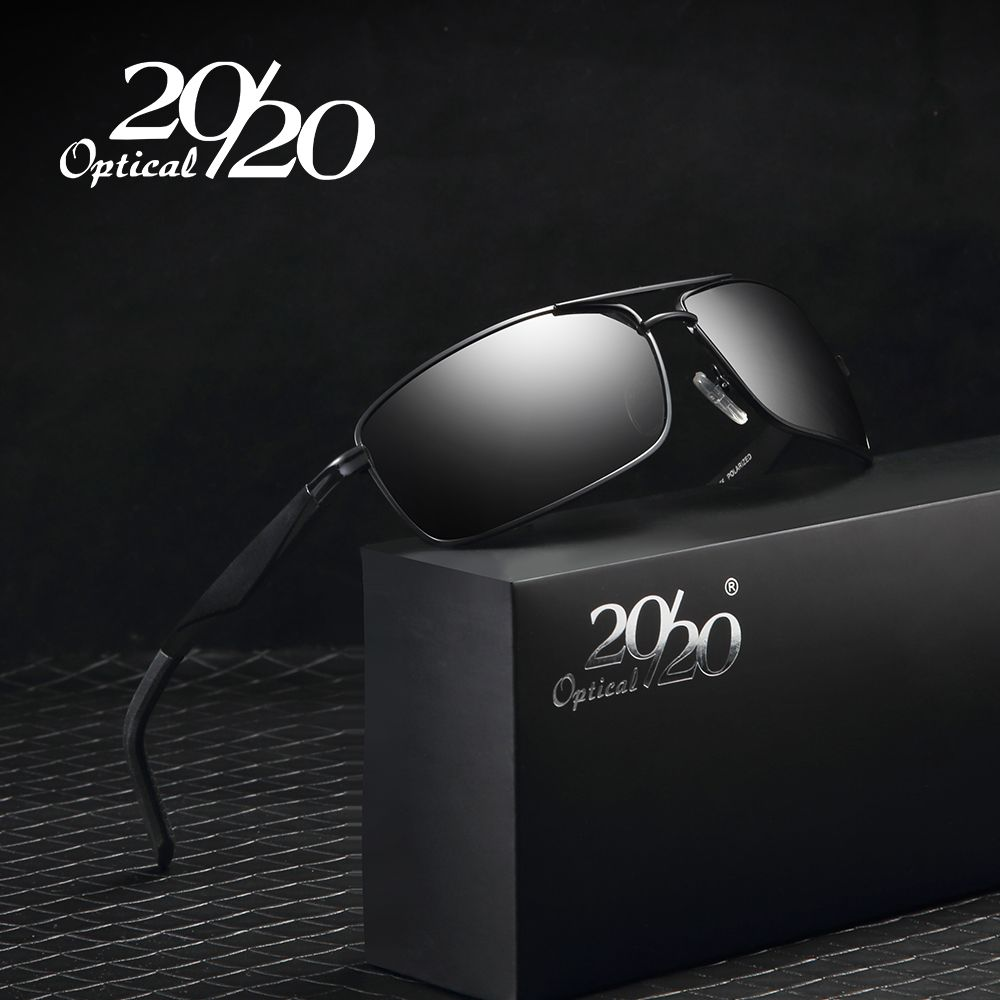 20/20 Brand Aluminum Men's Sunglasses Polarized Men Coating Driving <font><b>Fishing</b></font> Glasses oculos Male Eyewear Accessories For Men 1102