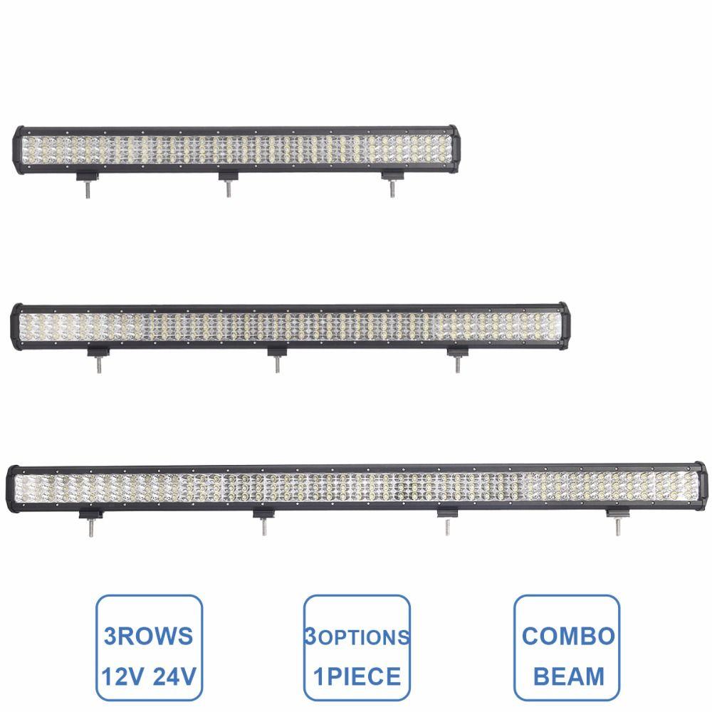 28 37 45 INCH OFFROAD LED WORK LIGHT BAR COMBO BEAM CAR 4WD TRUCK TRACTOR BOAT TRAILER 4X4 SUV ATV 12V 24V DRIVING LAMP LED BAR