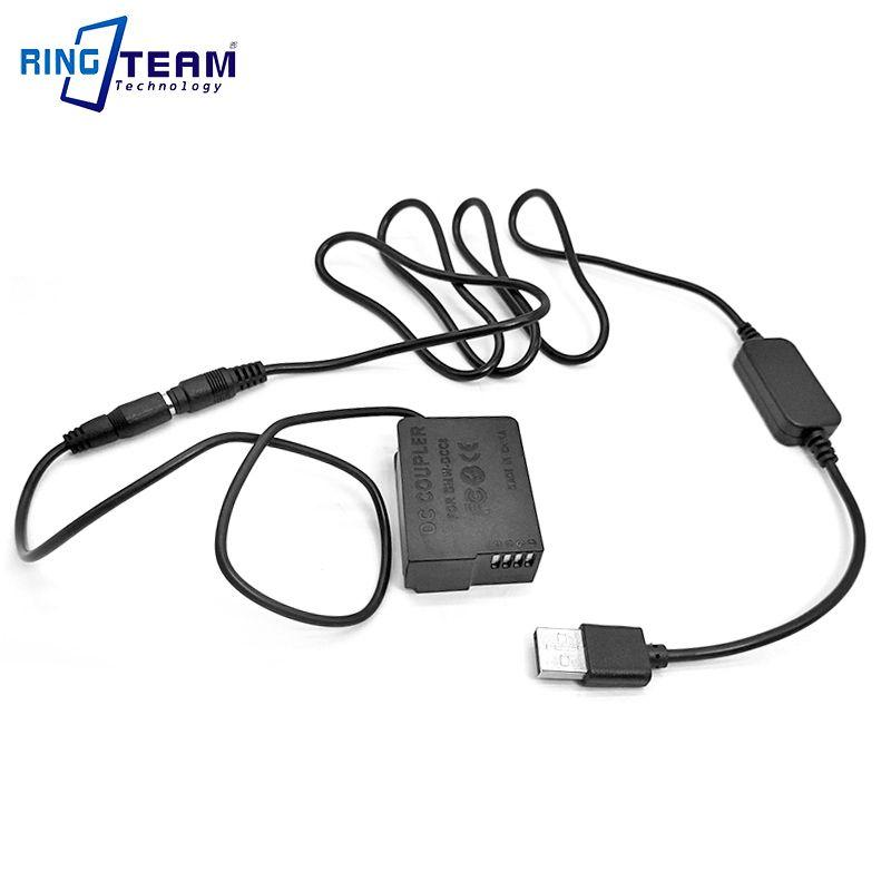 DMW DCC8 + 2x USB câble pour batterie externe S'adapte Panasonic DMC-FZ1000 FZ200 FZ300 G7 G6 G5 GH2 GH2K GH2S GX8 G80 G81 G85 Caméra