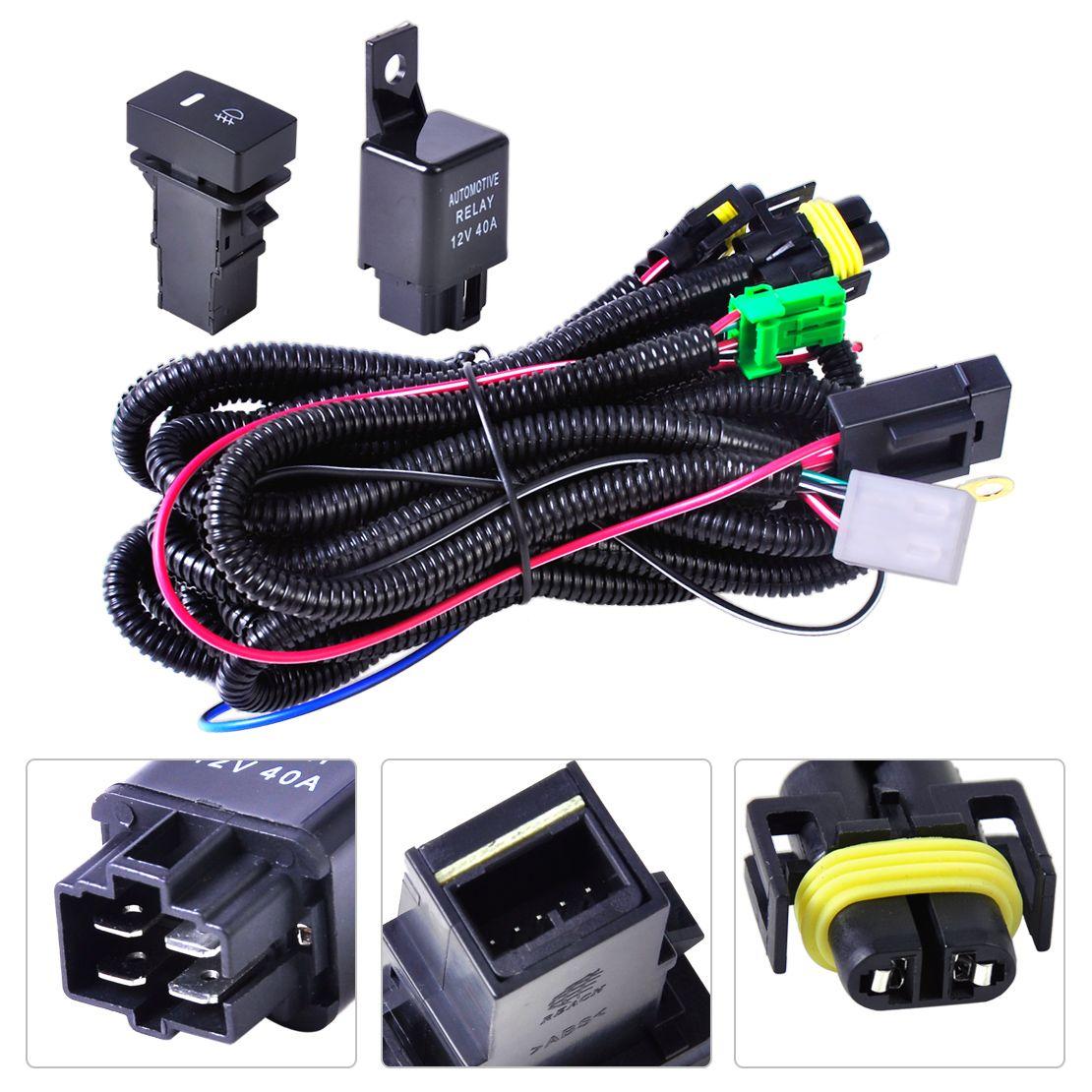 Fils + interrupteur pour faisceau de câbles DWCX pour feu anti-brouillard H11 pour Ford Focus 2008-2014 Acura TSX 11-14 Nissan Cube 2009-2015