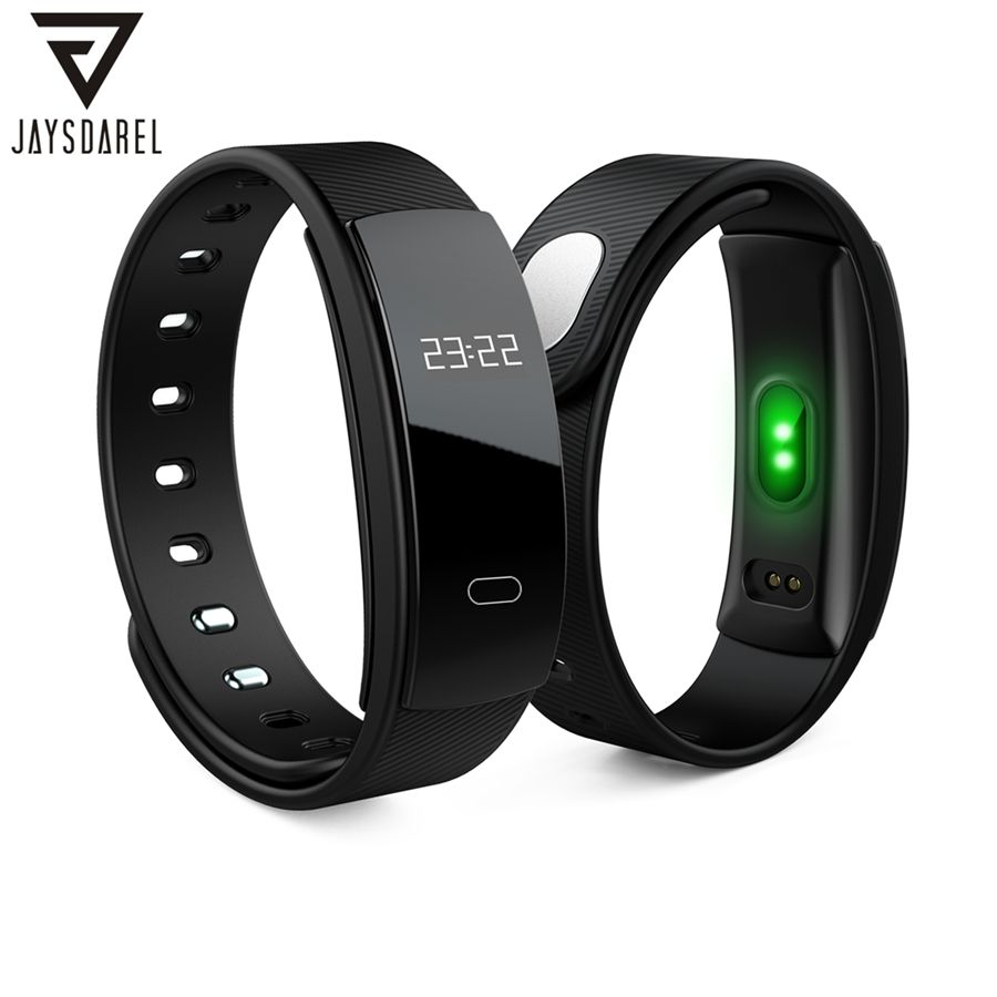 JAYSDAREL QS80 <font><b>Blood</b></font> Pressure Heart Rate Monitor Healthy Smart Watch OLED IP67 Smart Watch Fitness Bracelet for Android iOS