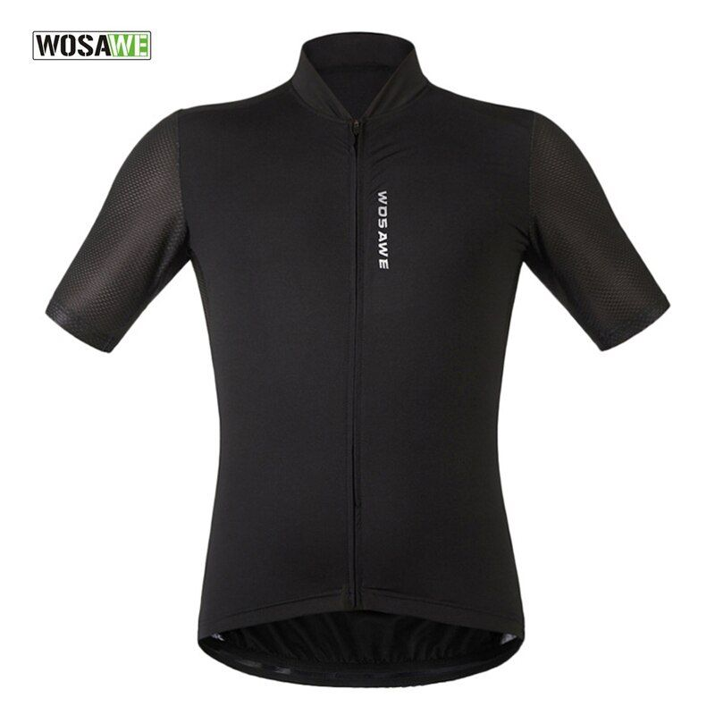 WOSAWE Short Sleeve Cycling Jersey Summer Breathable Bike/Bicycle Clothes Top Full Zipper Maillot Cycling Skinsuit Shirt Mtb 40