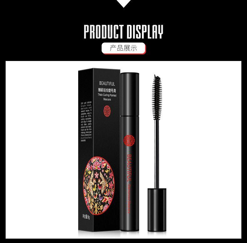 Color Mascara Waterproof Fast Dry Eyelashes Curling Lengthening Makeup Eye Lashes Blue Green Purple Black