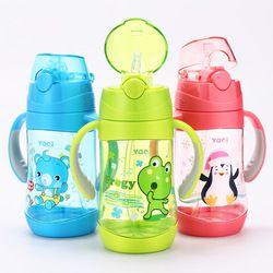 450 Ml Lucu Bayi Cangkir Anak-anak Anak-anak Belajar Makan Air Minum Jerami Menangani Botol Mamadeira Sippy Training Cup Makan Bayi piala