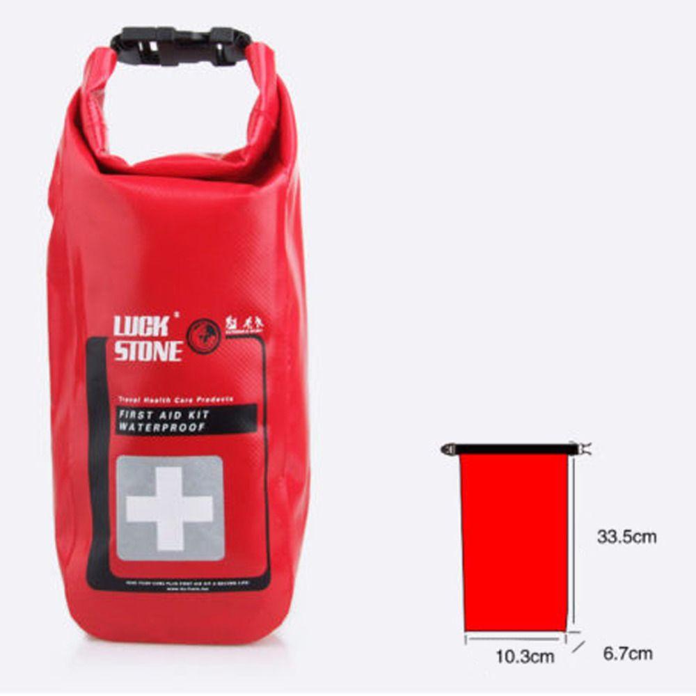 Rouge imperméable 2L trousse de premiers secours Kits d'urgence vide voyage sac sec Rafting Camping kayak Portable sac médical