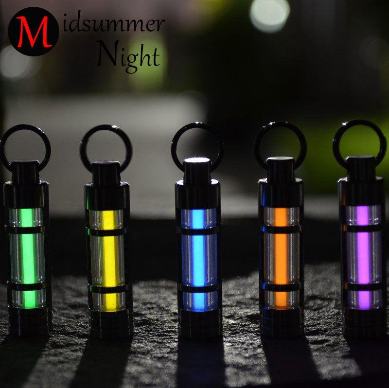 Бесплатная доставка автоматический свет 25 лет Титан Тритий брелок люминесцентная лампа спасательные мигалки