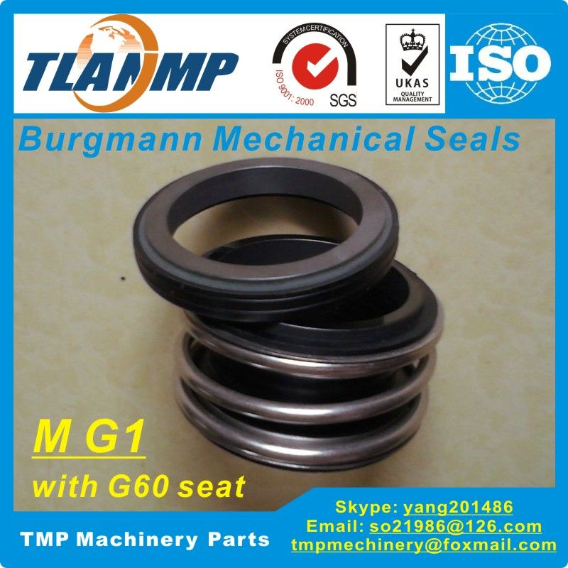 MG1-18 (MG1/18-G60)   Burgmann Mechanical Seals for Water Pumps with G60 stationary seat-(Material:SIC/SIC/VITON)