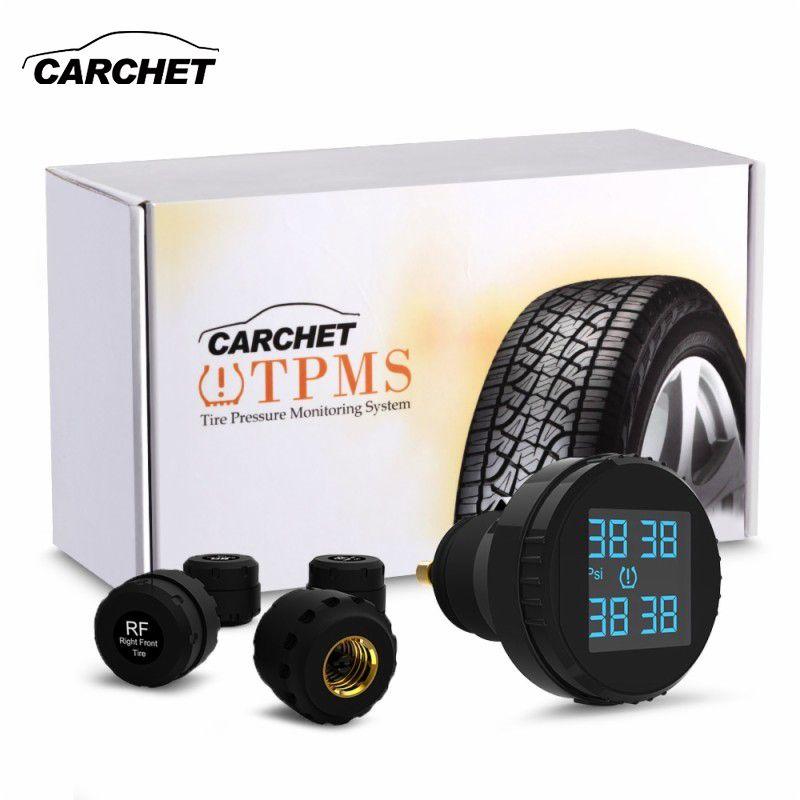 CARCHET Reifendruck Wireless Auto Smart TPMS Lcd-bildschirm 4 Sensoren Zigarettenanzünder Echtzeit tpms Auto Auto-detektor-diagnose-tool-schnittstellen-scanner-werkzeug