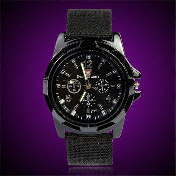 Homme montre Armée Gemius Force Militaire Sport Agent Hommes Tissu Bande Montre marque de luxe Homme horloge relogio A15