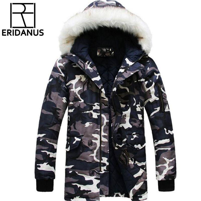 Neue Ankunft Winter Mäntel Herbst Military Camo Marke herren Parka mode Lässig Herren Slim Fit Parka Plus Größe XXL 3XL X482