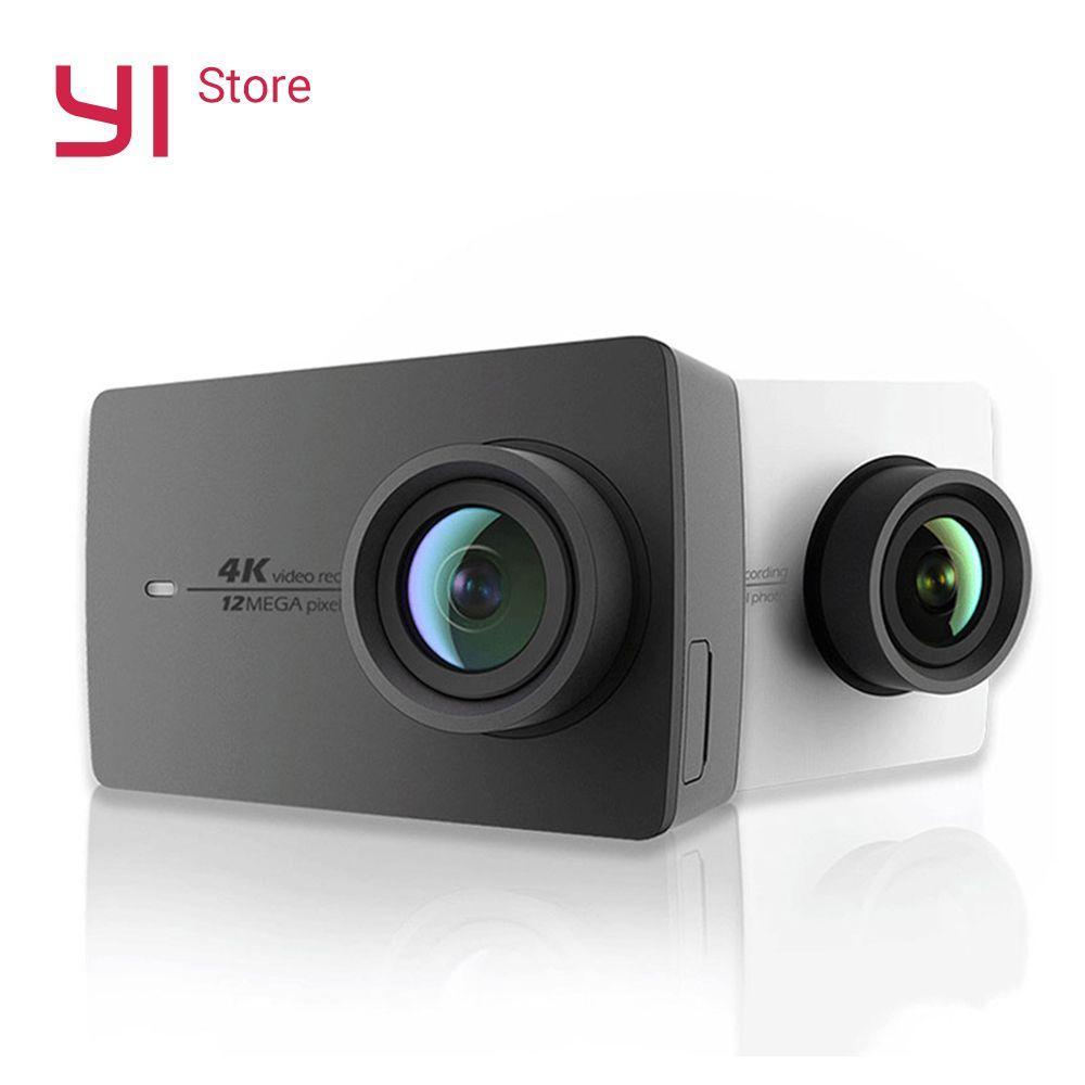 YI 4K Action Kamera Bundle 2,19 LCD Harten Bildschirm 155 Grad EIS Wifi Internationale Ausgabe Ambarella 12MP CMOS sport Kamera