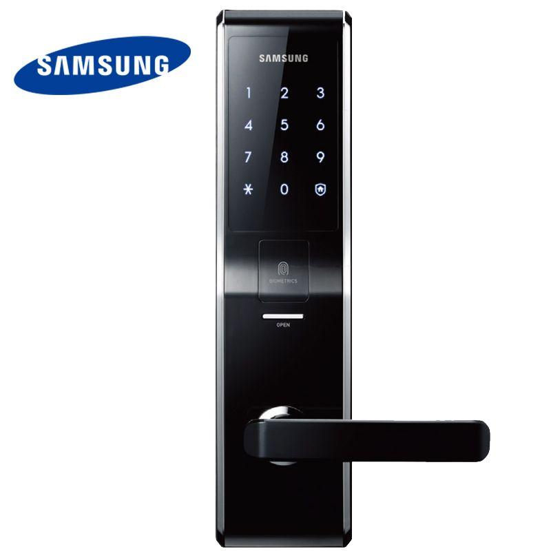 English Version Big Mortise Black Color SAMSUNG Fingerprint Digital Door Lock SHS-H705 (fingerprint+password+key)