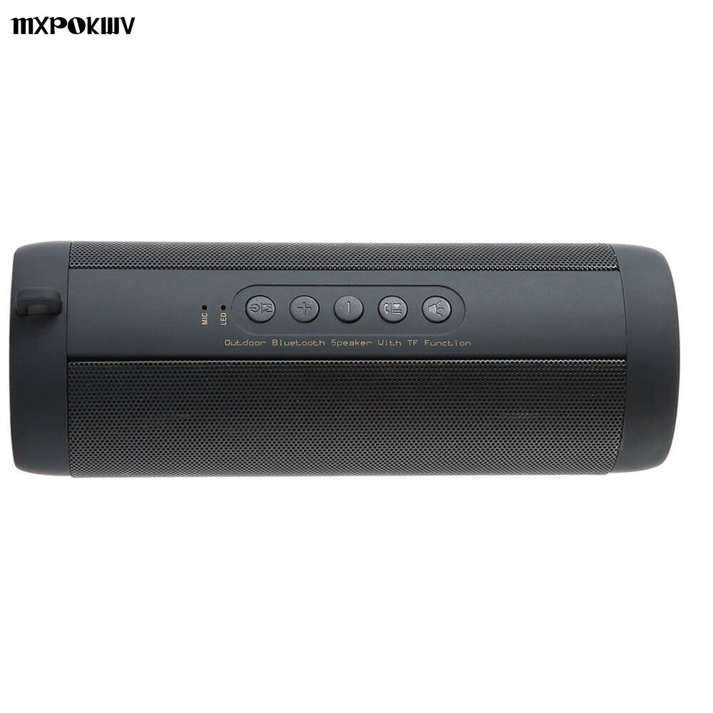 Stereo Hi-Fi Boxes Portable Outdoor Louderspeaker Waterproof Sport Bluetooth Speaker Support TF card FM Radio Super Bass T2