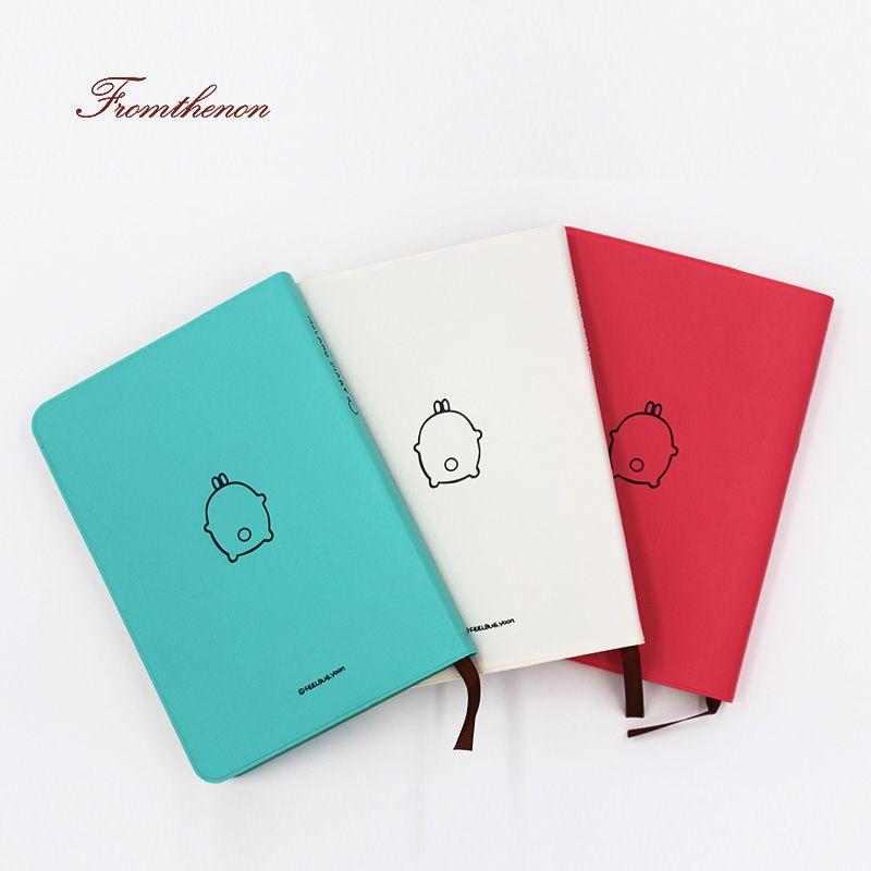 Fromthenon 2019 mignon Kawaii cahier dessin animé belle Journal Journal planificateur bloc-notes pour cadeau coréen papeterie coloré intérieur